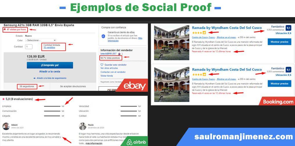 ejemplos de Social Proof