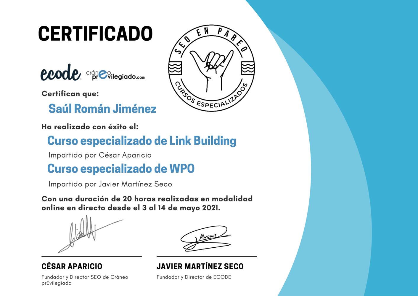 Curso de linkbuilding y WPO